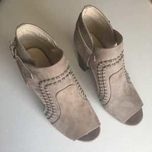 Cato faux suede booties with block heel size 8